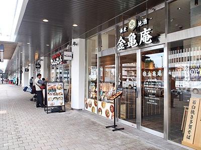 ビエラ大津1階には、近江牛や近江ちゃんぽん、多賀蕎麦といったご当地グルメを味わえる飲食店が軒を連ねる