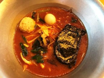 ヌードル・ブッフェで提供されたラーメン(味噌スープ)