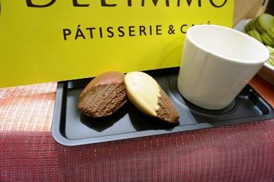 「Patisserie & Cafe DEL'IMMO(パティスリー&カフェ デリーモ、仮称)」(地下1階)ではフランス「ヴァローナ社」がブラック、ミルク、ホワイトに続く第4のチョコレートとして開発した「ブロンドチョコ」を使ったスイーツを提供