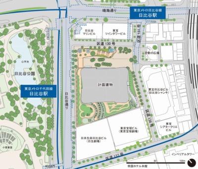 施設は日比谷駅直結。JR有楽町駅からは徒歩5分、銀座駅からは徒歩5分(地下通路にて直結)