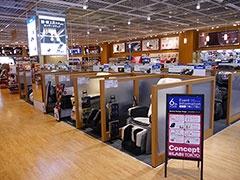 6階は健康器具や美容器具のフロアだ。美容器具や化粧品コーナーは商品数が多いが、落ち着いた雰囲気でまとめられている
