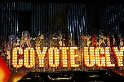 オールドアメリカンなテイストで統一された店舗内装。無数のブラジャーがオブジェのように飾られている