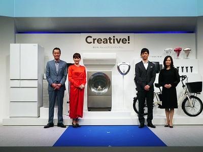 パナソニックのイメージキャラクターである綾瀬はるかさん、西島秀俊さん、遠藤憲一さん、水原希子さん