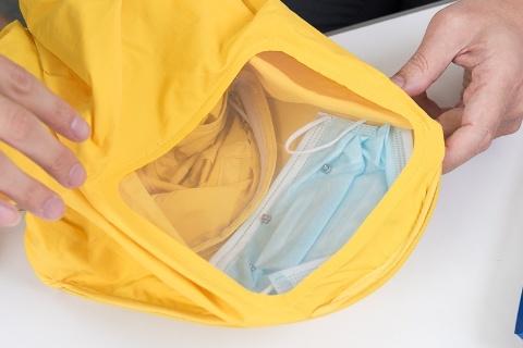 フィルターに使用しているのは市販の不織布マスク