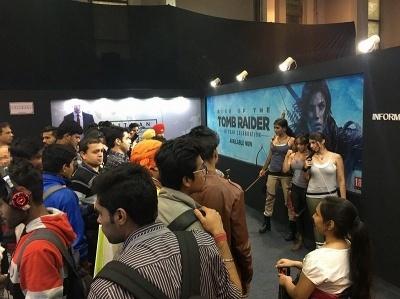 「India Gaming Show 2017」のスクウェア・エニックスブース<br>(提供:スクウェア・エニックス)