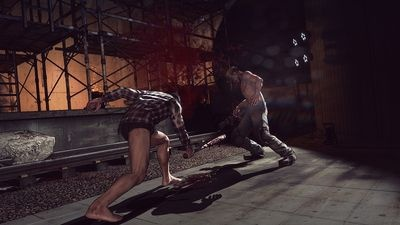 PS4向けに発売する自社開発の新作タイトル「LET IT DIE」。(C)GungHo Online Entertainment, Inc. All Rights Reserved.