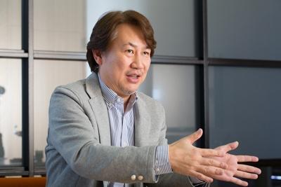 バンダイナムコエンターテインメント常務取締役の浅沼誠氏
