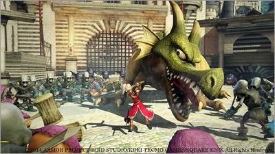 『ドラゴンクエストヒーローズ 闇竜と世界樹の城』<br>対応 :PlayStation4/PlayStation3<br>発売日 :発売中<br>価格 :PlayStation4版7,800円+税/PlayStation3版 6,800円+税<br>(C) 2014 ARMOR PROJECT/BIRD STUDIO/KOEI TECMO GAMES/SQUARE ENIX All Rights Reserved.