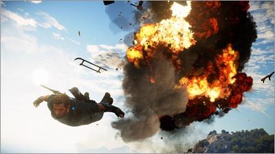『ジャストコーズ 3』<br>対応:PlayStation4/Xbox One/Windows<br>発売日:発売中<br>価格:パッケージ版 7,800円+税/ダウンロード版 6,800円+税<br>(C)SQUARE ENIX, LTD, All Rights Reserved.