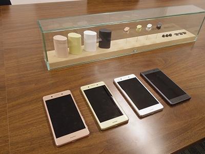 Xperia Earのコンセプトモデルでは4食を展示していたが、カラーバリエーションを用意するかは未定