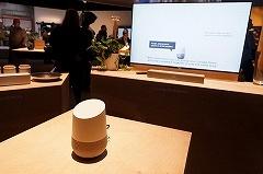ソニーによる「Google Home」と対応製品のデモ
