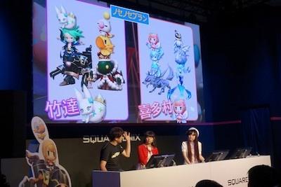 ワールド オブ ファイナルファンタジーは、集めたモンスター同士を闘技場で対戦できる。イベントでは開発陣があらかじめ用意されたモンスターで対戦した