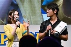 イベントには、ナビルーの声を務める声優のM・A・Oさん(左)が登場。パズドラシリーズの辻本プロデューサー(右)と楽しくトークを展開した