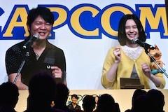 イベントの最後、M・A・Oさんと辻本プロデューサーがモンスターハンターストーリーズで対戦。大いに盛り上がった