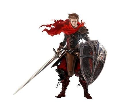 プレーヤーキャラクターの一人、エブラール。戦いつづけることを自らの使命とする元騎士あらため戦士bushiroad All Rights Reserved. Developed by DAIDALOS Inc. illust:中村瑠衣子