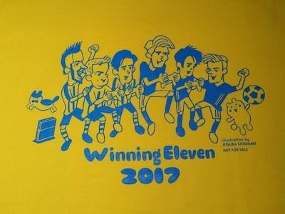 たとえ勝つか引き分けに持ち込めなくとも、挑戦者にはこんな可愛いイラストが描かれたTシャツが王者から与えられる。イラストを手がけるのは、スポーツ専門チャンネルJSPORTSのサッカー番組「Foot!」などでおなじみの内巻敦子さんだ