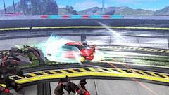 「ドライビングフォーム」と「ファイティングフォーム」という2つの姿に随時切り替えながら、敵と戦っていく