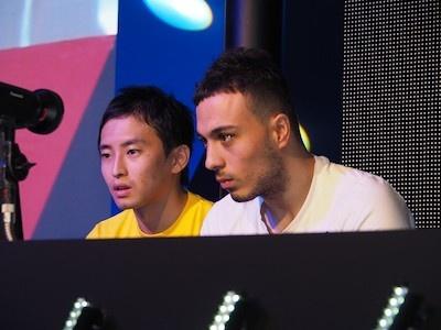 エキシビションとして戦った日本チャンピオン、ひのん氏と、世界チャンピオンのァスマカバィル氏。結果は2年連続で世界タイトルを獲得しているァスマカバィル氏の圧勝に終わった。