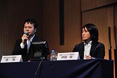 コーディネーターを務めた原隆・日経FinTech編集長(左)と日経トレンディ編集長・伊藤健