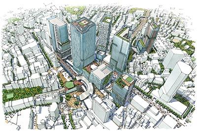 渋谷駅周辺開発の全体図(提供:渋谷駅前エリアマネジメント協議会)