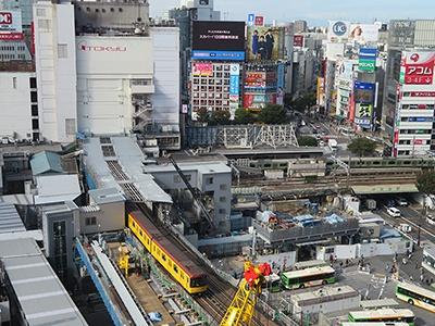 開発が進む渋谷駅周辺エリア