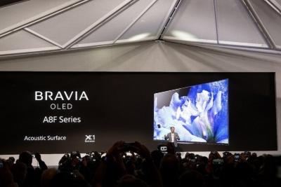 ソニーは米国向けの有機ELテレビ「A8F」シリーズを発表