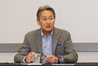 記者会見では平井一夫社長がソニーの2018年以降に向けた製品・サービスの戦略を説明した
