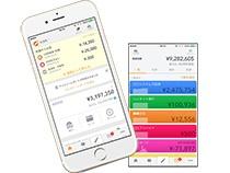 入出金の明細や保有口座ごとの残高、資産総額などがアプリで把握できる