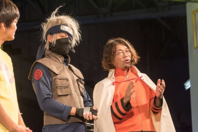 戸井田健一プロデューサーははたけカカシ、新野範聰プロデューサーは七代目火影のコスプレで登場。戸井田プロデューサーの声がマスクでこもって聞き取りにくい