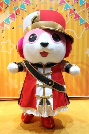 「BanG Dream!」(バンドリ!)のマスコットキャラクター、ミッシェルの着ぐるみ。東京ゲームショウ2017のブシロードブースでは一緒に記念撮影ができる。お面も配布中だ (c)BanG Dream! Project (c)bushiroad All Rights Reserved.