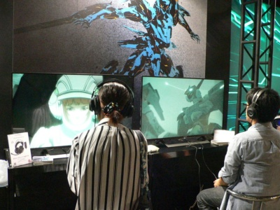PS4リマスター版『ANUBIS ZONE OF THE ENDERS:M∀RS』の試遊コーナー
