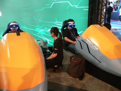 PS VR版『ANUBIS ZONE OF THE ENDERS:M∀RS』の試遊コーナー
