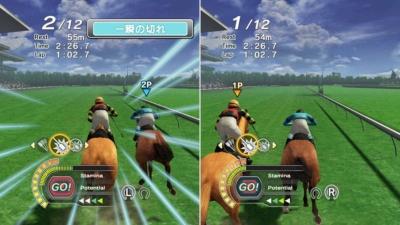 Nintendo Switch用のJoy-Conを使った独特の操作でジョッキー気分が味わえるNintendo Switch用の『Champion Jockey Special』。画面分割での対戦も熱いのだ