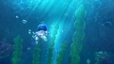 暗い洞窟や緑にあふれた森、巨大くじらのおなかの中など、全20ステージから成る (c)Sony Interactive Entertainment Inc.