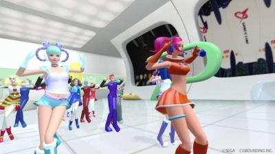 『スペースチャンネル5 VR あらかた★ダンシングショー』には、プレイヤー自身のキャラクターにもなる新人リポーター「ルーちゃん」「キーちゃん」の双子姉妹が新キャラクターとして登場 (c)SEGA (c)GROUNDING INC.