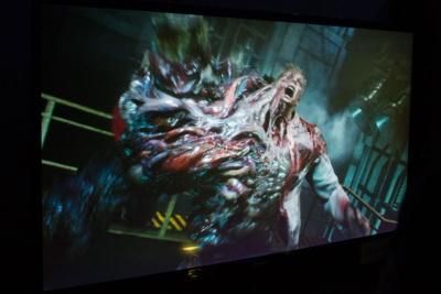 『バイオ2』を代表するキャラクターGが登場。これを倒さないといけないらしい