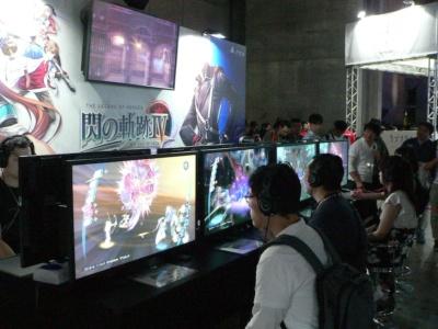 人気RPGシリーズ最新作『閃の軌跡IV』コーナーは、今回も開場直後から大人気