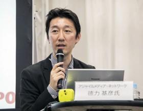 モデレーターのアジャイルメディア・ネットワーク取締役CMOの徳力基彦氏