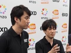 BXD取締役社長手塚氏(写真右)とBXD取締役内藤氏(写真左)