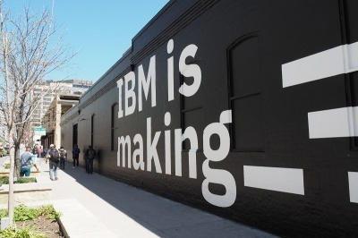 IBMも建物を貸し切って展示イベントを開催