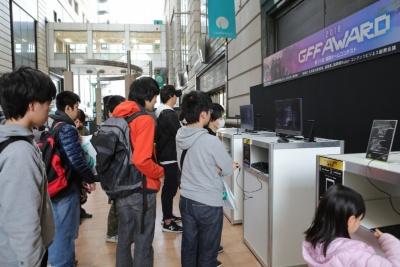 オープンスペースである1階のパサ―ジュ広場には、コーエーテクモゲームスやGFF各社の試遊コーナーを設置