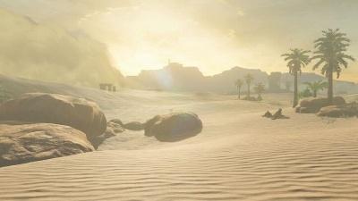 こちらは砂漠。暑さ対策をしていないと体力が削られていく (c)2017 Nintendo