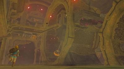 こちらはダンジョン(のようなもの)の内部。ここでの謎解きは、なかなかのやり応え (c)2017 Nintendo
