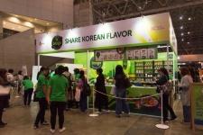 サラダバーのようなビジュアルの「bibigo」。実際は、ご飯・メイン・ナムル・ソースをそれぞれ数種類の中から選び、自分好みのビビンパが作れる店だ。韓国、中国、米国に店鋪を展開している