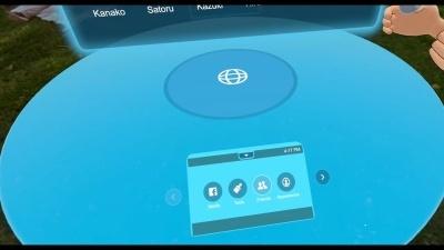ユーザーそれぞれの手元には操作パネルが表示される。ほかのユーザーの操作パネルは見えない
