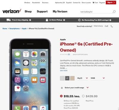 米アップルは米国など海外では中古iPhoneを自ら販売している(出所:米アップル)