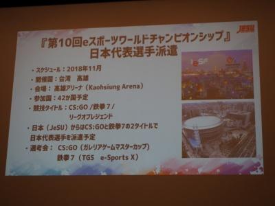 eスポーツワールドチャンピオンシップにも参戦を決定。派遣選手の選考会は、『カウンターストライク:GO』がガレリアゲームマスターカップで、『鉄拳7』は東京ゲームショウ2018で行われる