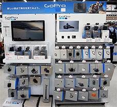 ビックカメラ有楽町店では「GoPro」シリーズのアクセサリーを豊富に取り揃えている