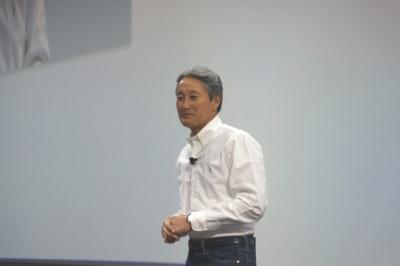 「AI×ロボティクス」戦略を語る社長兼CEOの平井一夫氏