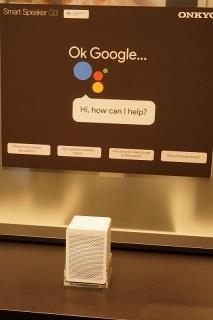 オンキヨーのGoogleアシスタント搭載スマートスピーカー「G3」。価格は230ユーロ(約3万円)